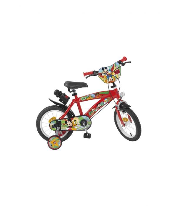 Bicicleta roti ajutatoare copii fete baieti Toimsa Disney Minnie Mouse 14 inch 4 5 6 ani [0]