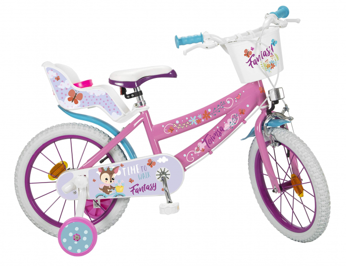 Bicicleta roti ajutatoare copii fete Toimsa Disney Princess 16 inch 5 6 7 ani 0