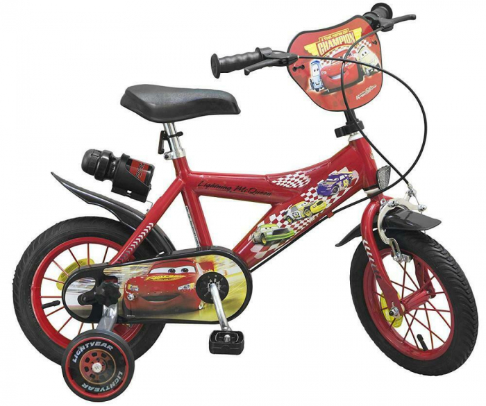 Bicicleta copii, Baieti, Toimsa 12 inch, Disney CARS, 3-5 ani 0