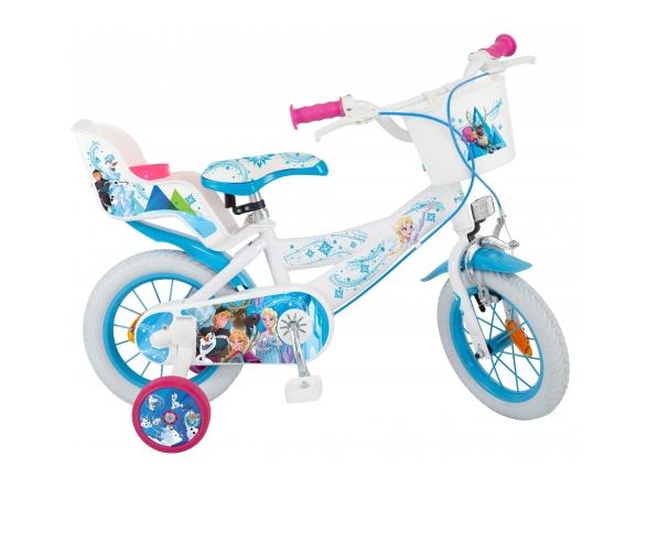 bicicleta roti ajutatoare copii fete baieti toimsa disney frozen 12 inch 3 4 5 ani 0