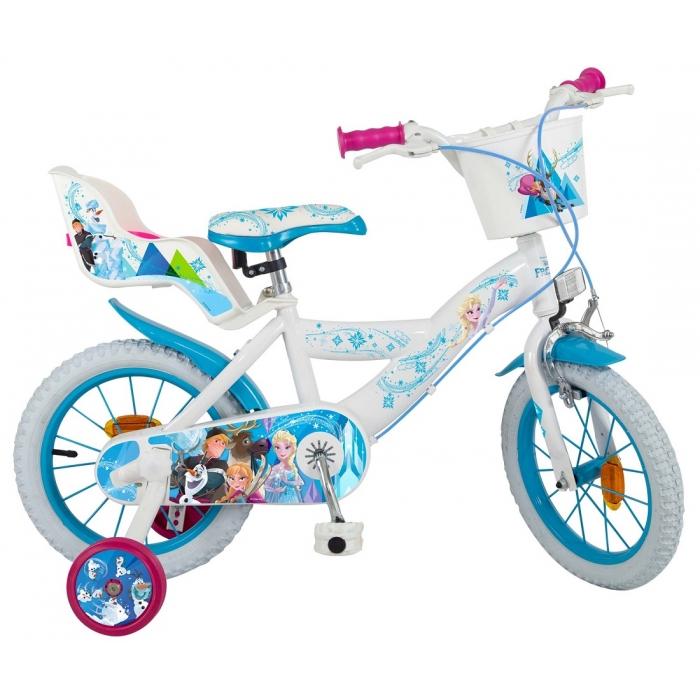 Bicicleta copii Fete Disney Frozen 14 inch 4-6 ani Toimsa 0