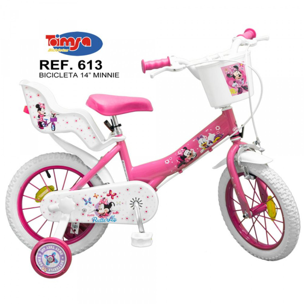 "BICICLETA COPII TOIMSA 14"" PINK MINNIE MOUSE 0"