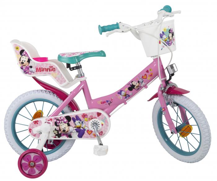 bicicleta roti ajutatoare copii fete toimsa disney minnie mouse 12 inch 3 4 5 ani 0
