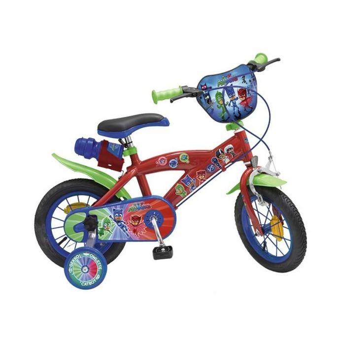 Bicicleta roti ajutatoare copii baieti Toimsa Disney Pj Masks 12 inch 3 4 5 ani 0