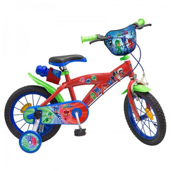 Bicicleta roti ajutatoare copii fete baieti Toimsa Disney Pj Masks 16 inch 5 6 7 ani 0