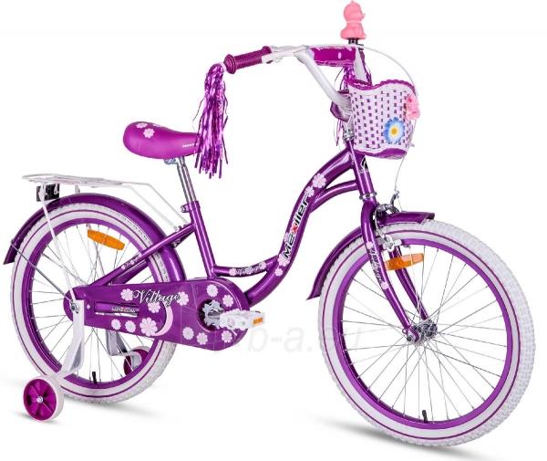 Bicicleta copii Village 20 inch, Mexller, mov 0