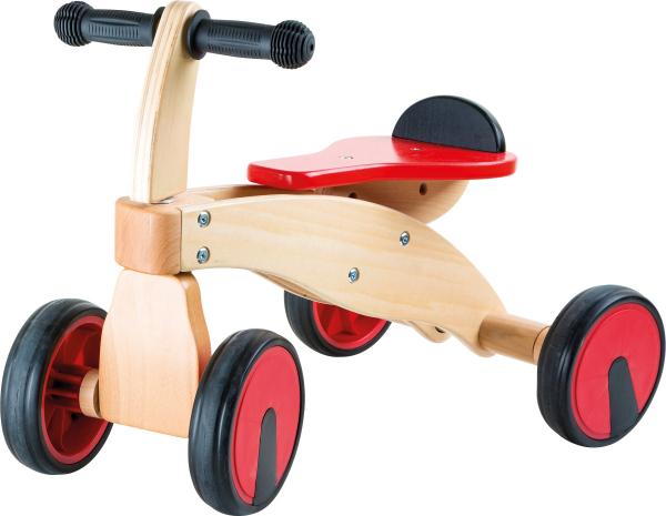BICILETA DIN LEMN 4 ROTI RED RACER 0