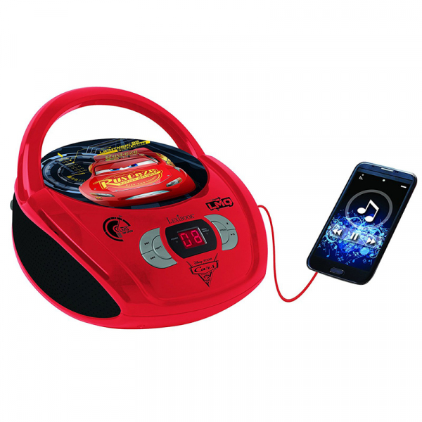 BOOMBOX  RADIO/ CD PLAYER DISNEY CARS  0