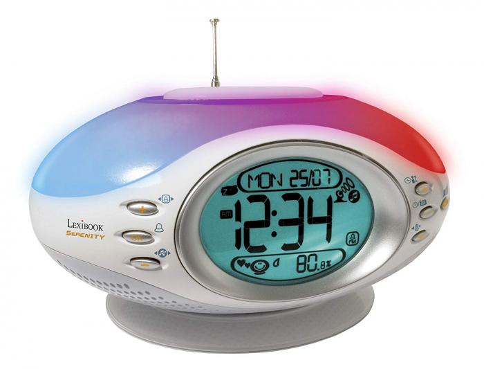 Ceas desteptator cu lumini si sunete, Lexibook, Gri 0