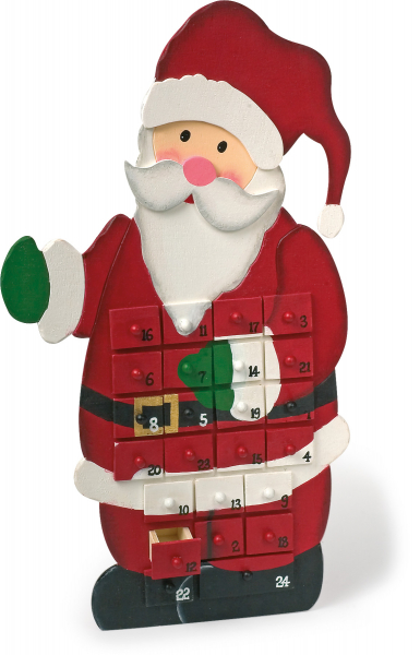 DECOR CRACIUN CALENDAR ADVENT SANTA CLAUS 55 CM 0