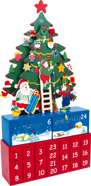 DECOR CRACIUN CALENDAR ADVENT BRADUT DE CRACIUN 60 CM 0