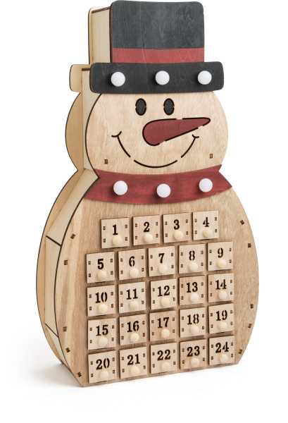 DECOR CRACIUN CALENDAR ADVENT SNOWMAN 40 CM 0