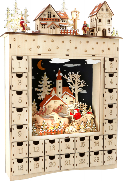 DECOR CRACIUN CALENDAR ADVENT WINTER DREAM 52 CM  0
