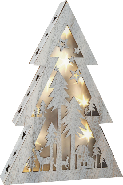 DECOR DIN LEMN LUMINOS CHRISTMAS TREE  37 CM 0