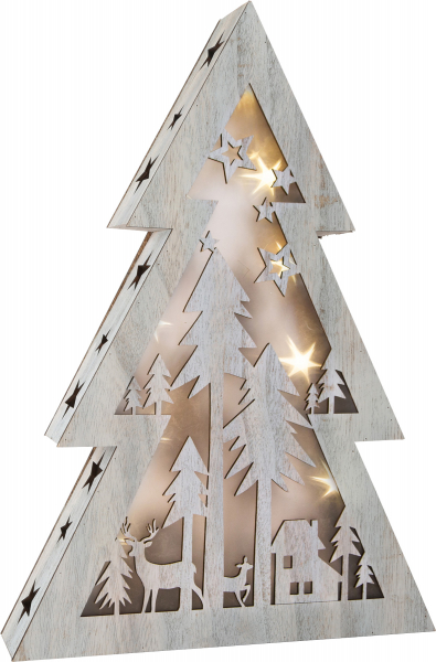 DECOR DIN LEMN LUMINOS CHRISTMAS TREE 48 CM  0