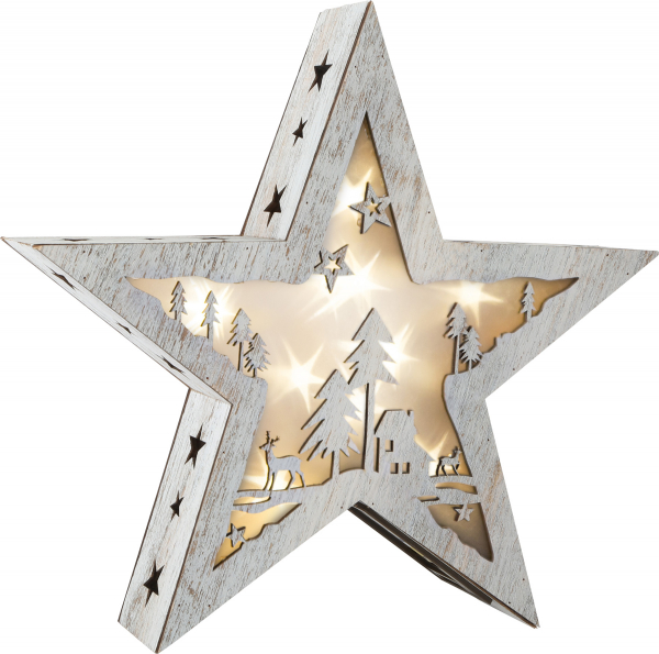 DECOR DIN LEMN LUMINOS SHINY STAR 27 CM  0