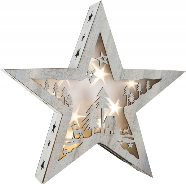 DECOR DIN LEMN LUMINOS SHINY STAR 37 CM  0