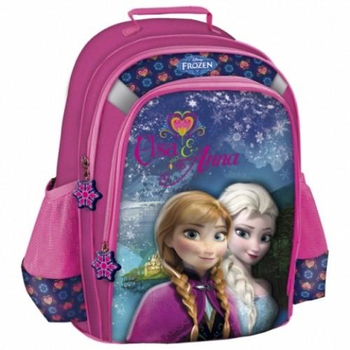 Ghiozdan scoala copii, Fete,  ELSA si ANNA Disney FROZEN, 39 cm