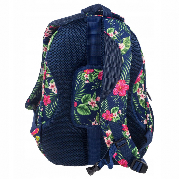 ghiozdane-scoala-copii-back-up-baieti-fete-42-cm-casti-cadou-tropical-flower 1
