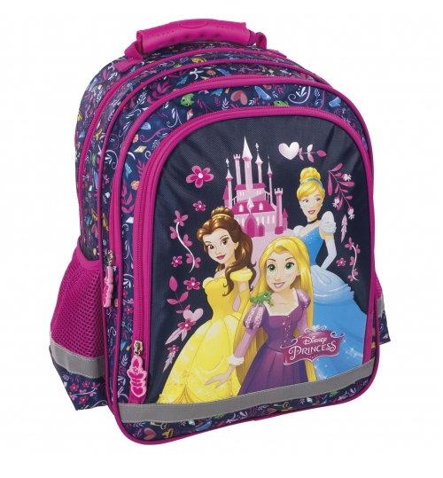 Ghiozdan scoala copii, Fete, Disney PRINCESS, Roz, 38 cm