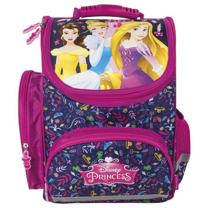 ghiozdan ergonomic disney princess fete roz clasa 0-1-2-3-4 1