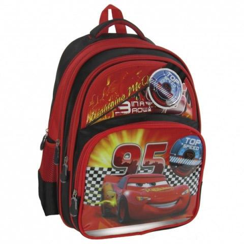 Ghiozdan scoala copii, Baieti, Top Speed DISNEY CARS, 37 cm 0