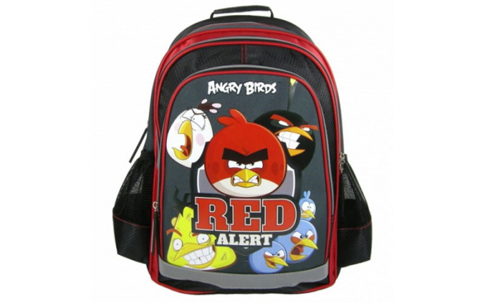 Ghiozdan scoala copii, Red Alert ANGRY BIRDS, 39 cm 1