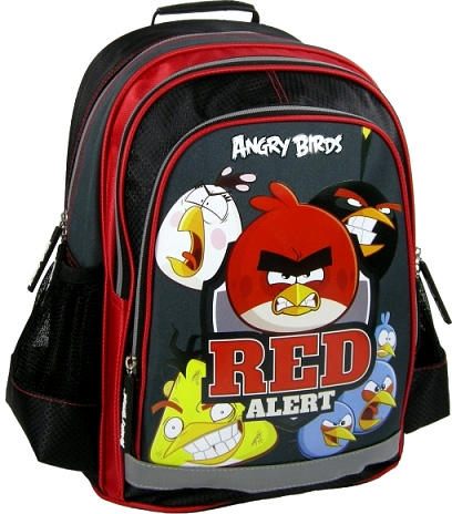 Ghiozdan scoala copii, Red Alert ANGRY BIRDS, 39 cm 0