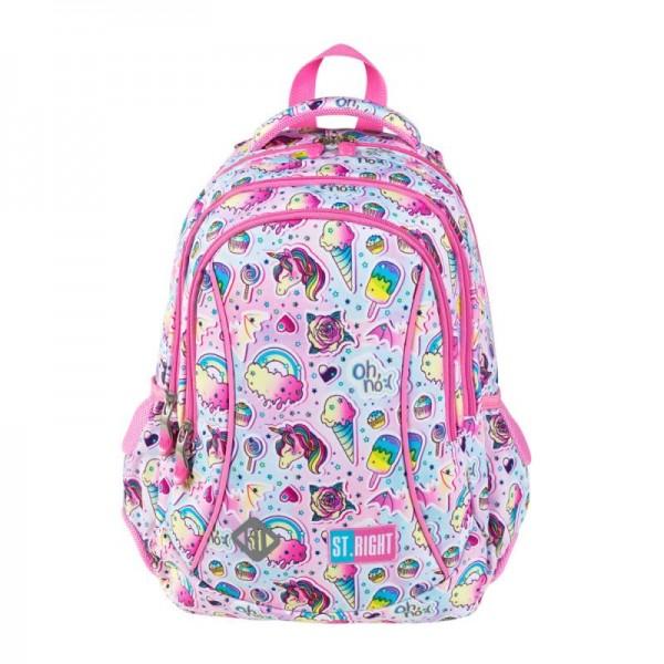 Ghiozdan scoala copii Sweet Pink, Majewski, roz 0