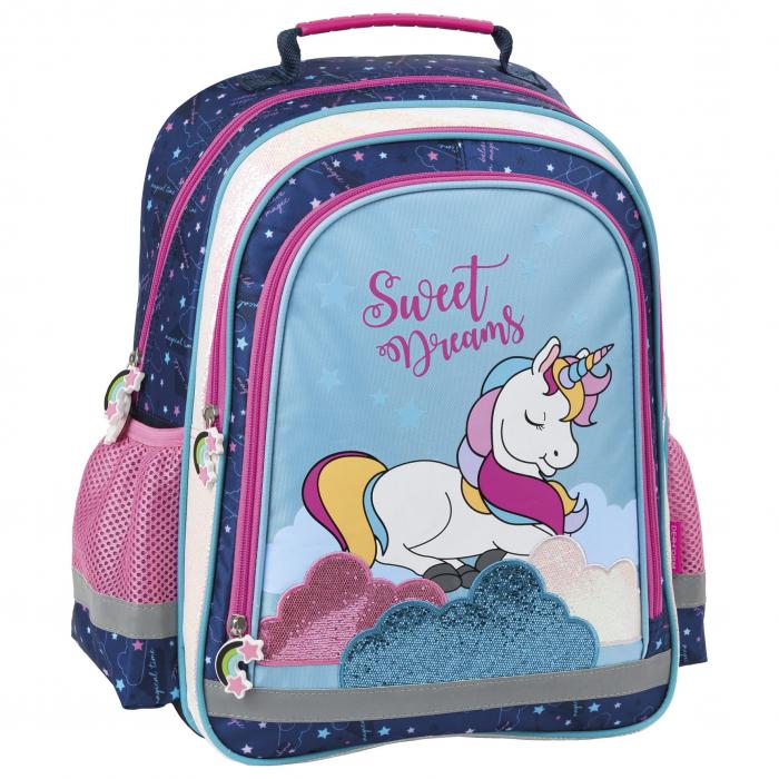 Ghiozdan scoala copii - fete, Unicorn, 38cm [6]