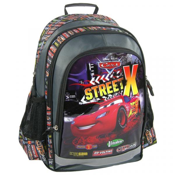 Ghiozdan scoala copii, Baieti, Street X Disney CARS, 39 cm 0