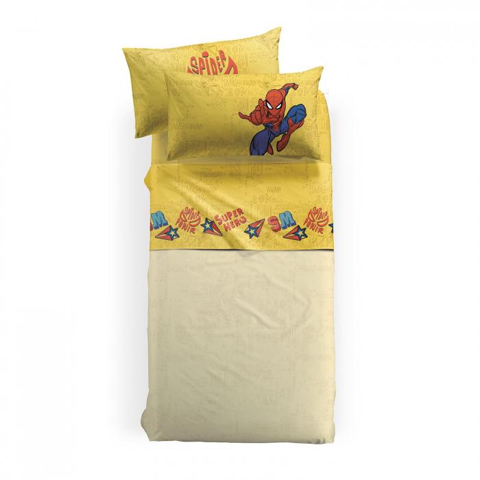 Lenjerie pat Spiderman Hero, 155x280 cm 0