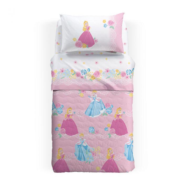 Lenjerie pat Princess Romantic, 155x280 cm, roz 0