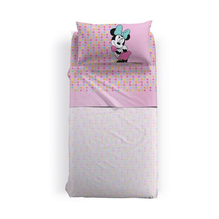Lenjerie pat Minnie Gaia, 155x280 cm, roz 0
