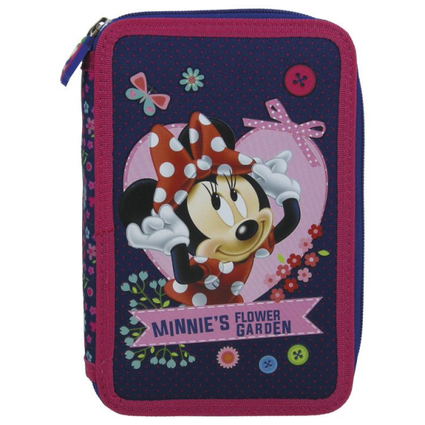 Penar scoala, echipat, dublu(2 compartimente), Fete, Minnie Mouse 0