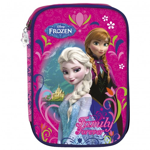 Penar scoala, neechipat, dublu(2 compartimente), Fete, Disney Frozen 0