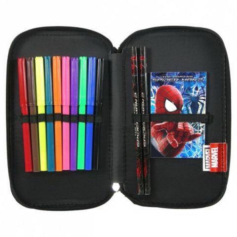 Penar scoala, echipat, dublu(2 compartimente), Baieti, Out of Time Spiderman 1