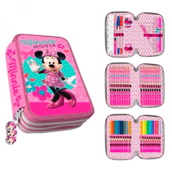 penar scoala copii fete 3 compartimente complet echipat minnie mouse 0