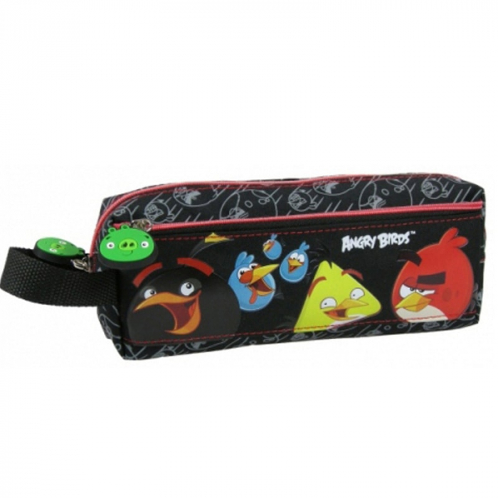 Penar scoala, neechipat, dublu(2 compartimente), Angry Birds [0]