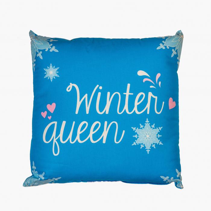 Perna decorativa Frozen , 42x42 cm, albastru 1