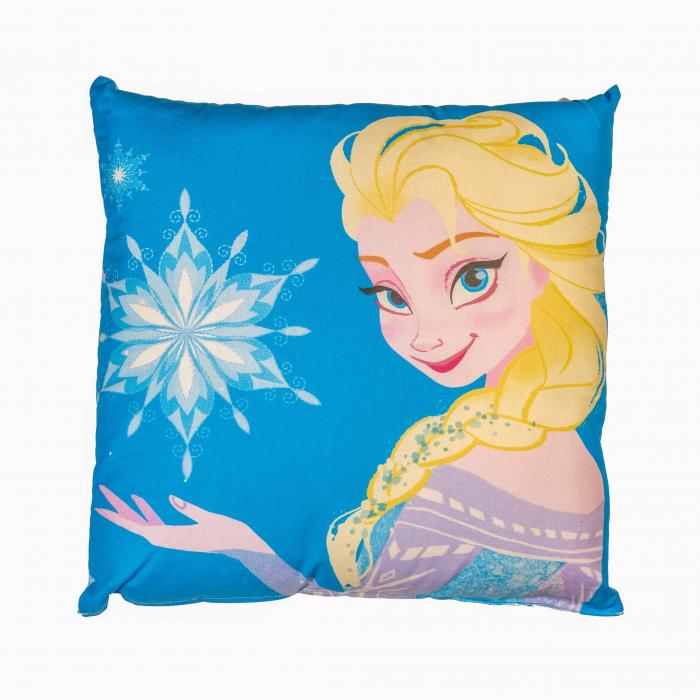 Perna decorativa Frozen , 42x42 cm, albastru 0
