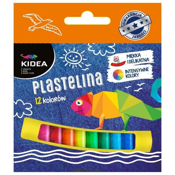 PLASTELINA 12 CULORI KIDEA 0