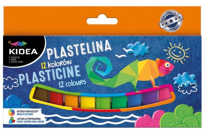 Plastilina 12 culori, Kidea 0