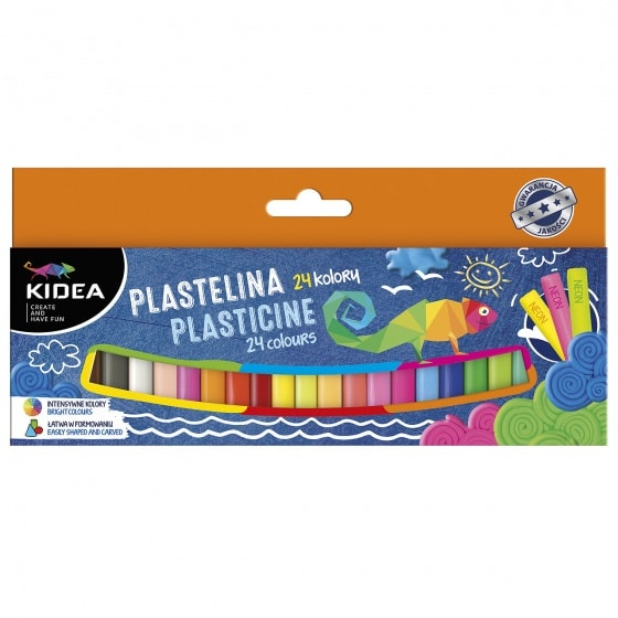 Plastilina mix 24 culori, Kidea 0