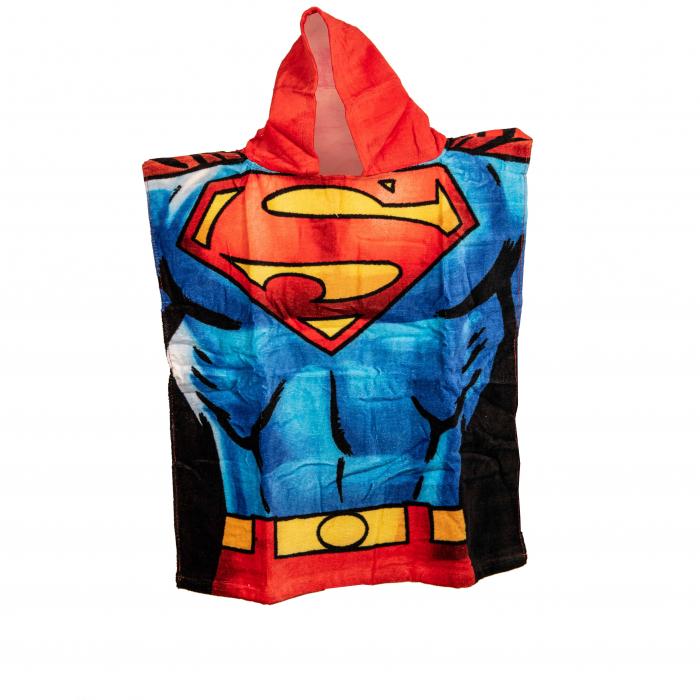 Poncho pentru baie sau plaja Superman, 50x115 cm 1