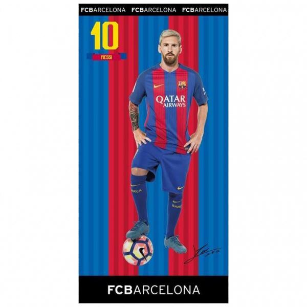 PROSOP DE BAIE SAU PLAJA 75x150CM LEO MESSI FC BARCELONA 0