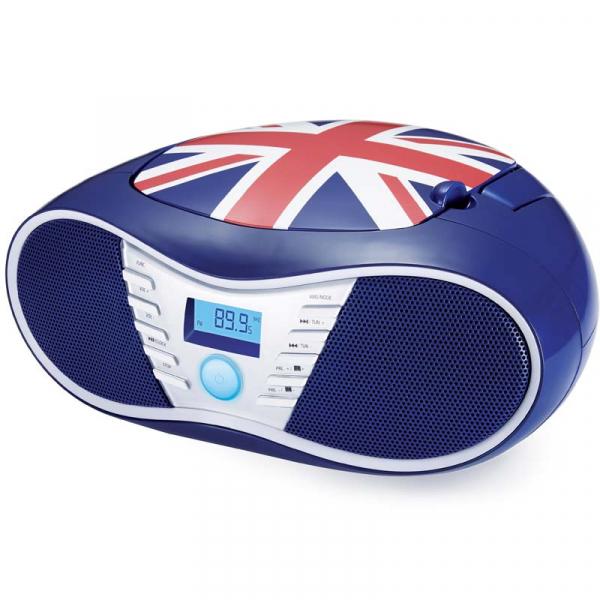 RADIO CD-PLAYER BLEU CU PORT USB BRITAIN BIGBEN   0