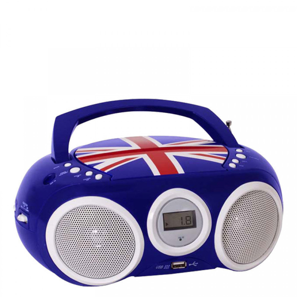RADIO CD-PLAYER BLEU CU PORT USB ENGLAND BIGBEN 0