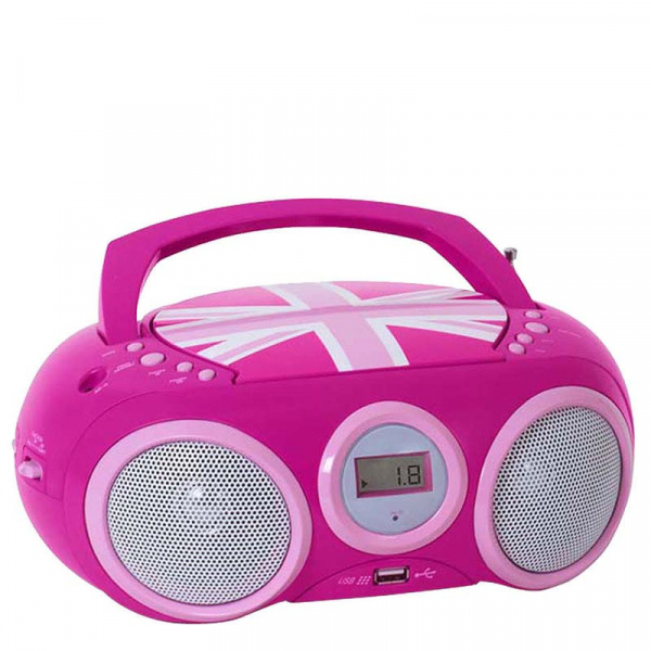 RADIO CD-PLAYER PINK CU PORT USB ENGLAND BIGBEN 0