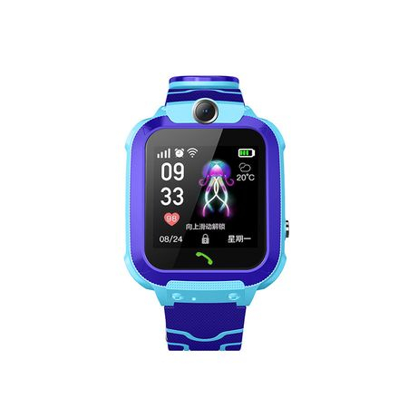 Ceas smartwatch copii GPS Q12, rezistent la apa, telefon, touchscreen, foto, monitorizare spion, buton SOS, albastru 0